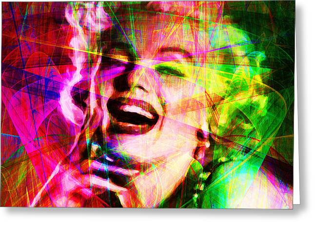 Royalty Digital Art Greeting Cards - Monroe 20130618so square Greeting Card by Wingsdomain Art and Photography