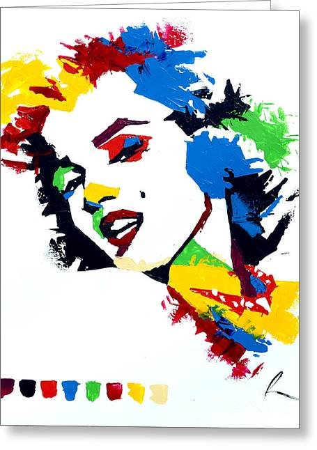 Marlyn Greeting Cards - Monroe Greeting Card by Edgar Rafael