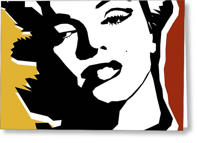 Hollywood Legend Greeting Cards - Monroe Greeting Card by Mark Ashkenazi