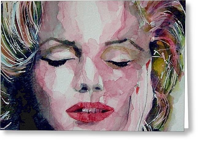Marilyn Monroe Greeting Cards - Monroe no 6 Greeting Card by Paul Lovering
