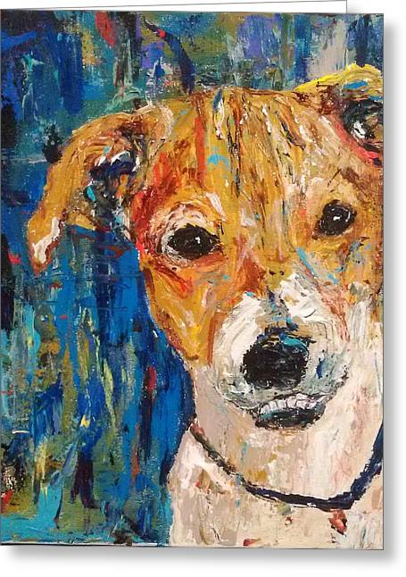 Bestfriend Greeting Cards - Monsieur Bitey  Greeting Card by Sherry Paylor