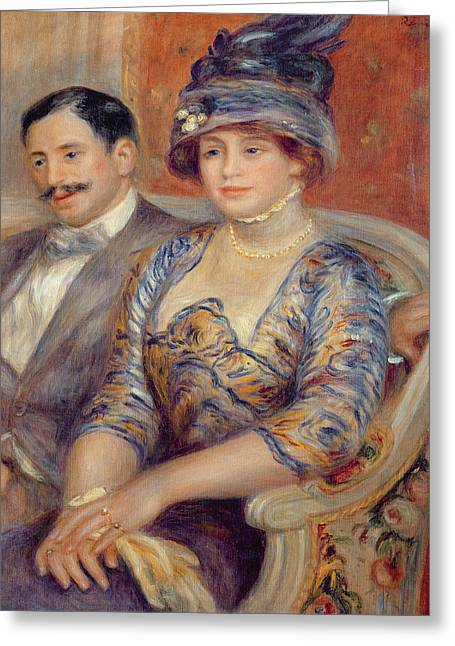 Gaston Greeting Cards - Monsieur Et Madame Bernheim De Villers, 1910 Oil On Canvas Greeting Card by Pierre Auguste Renoir