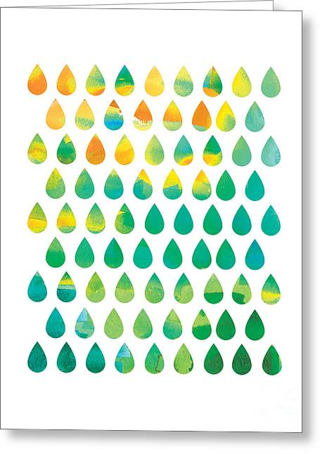 Water Drop Greeting Cards - Monsoon Rain Greeting Card by Budi Kwan