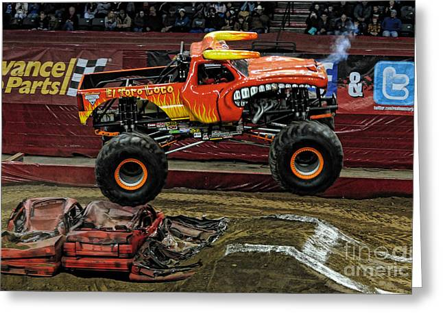 Freestyle Greeting Cards - Monster Truck - El Toro Loco Greeting Card by Paul Ward