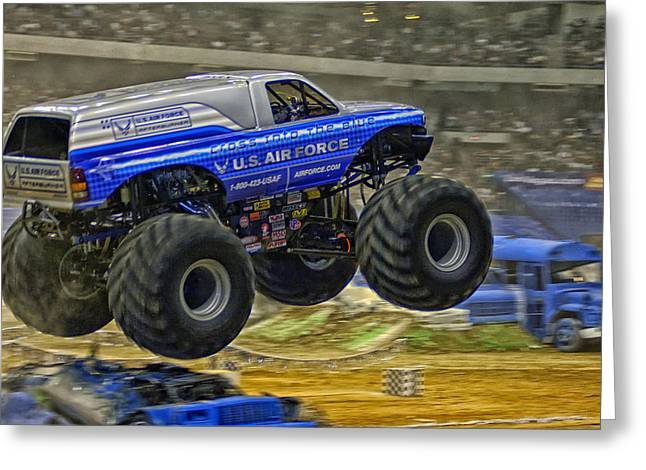 Sponsor Greeting Cards - Monster Truck Greeting Card by Mountain Dreams