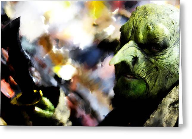 Monster With Big Nose  Greeting Card by Toppart Sweden