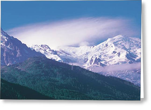 Snowy Day Greeting Cards - Mont Blanc France Greeting Card by Panoramic Images