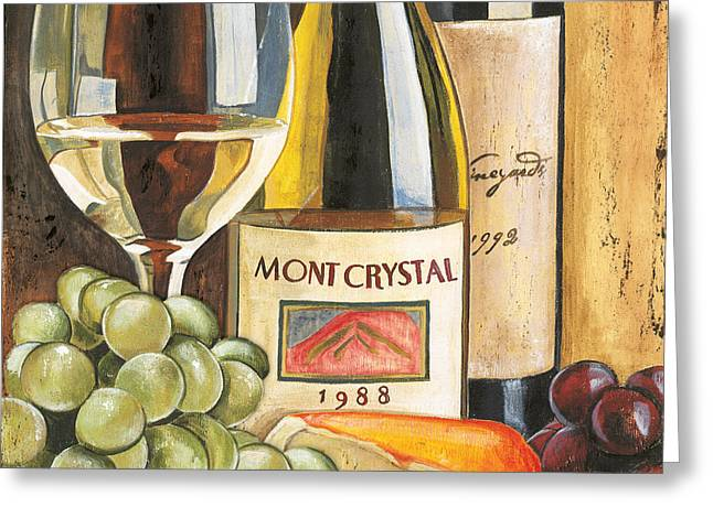 Pinot Paintings Greeting Cards - Mont Crystal 1988 Greeting Card by Debbie DeWitt
