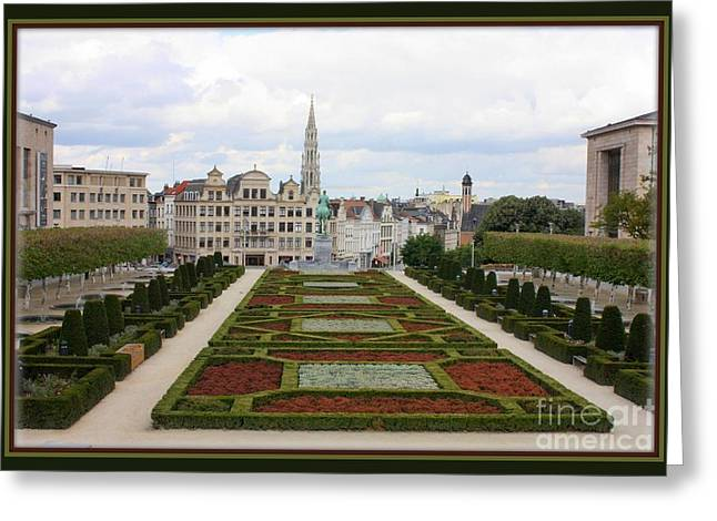 Mont des Arts towards the Grand Place Greeting Card by Carol Groenen