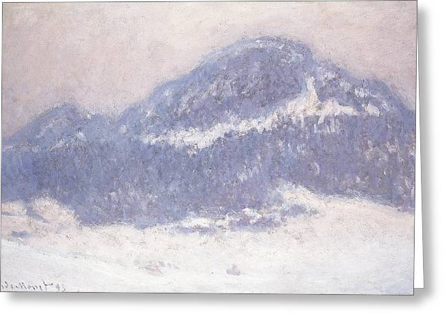 Monet Reproduction Greeting Cards - Mont Kolsaas Greeting Card by Claude Monet