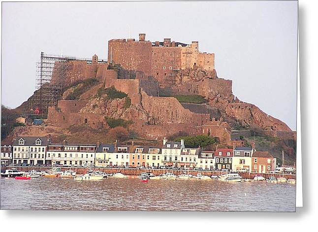 Gorey Greeting Cards - Mont Orgueil Gorey Castle Greeting Card by Keith Stokes