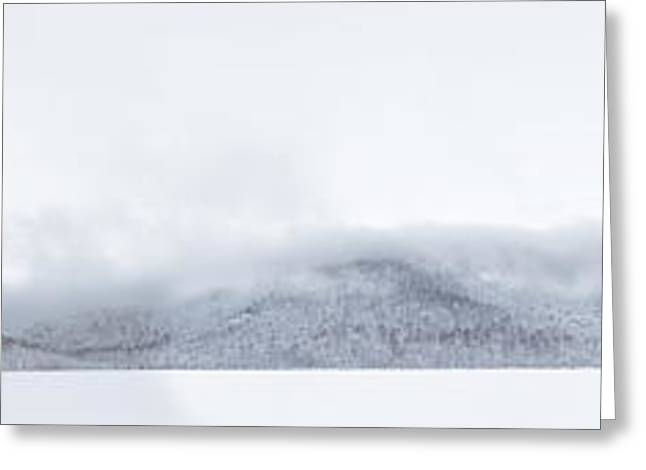 Winter Storm Greeting Cards - Mont Saint Hilaire  Lac Hertel On a Winter Day Greeting Card by Laurent Lucuix