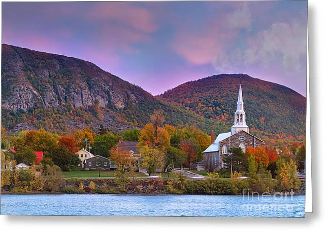 Boulder - Rock Greeting Cards - Mont-Saint-Hilaire Quebec on an Autumn Day Greeting Card by Laurent Lucuix
