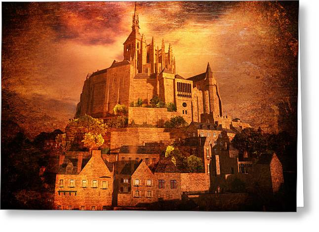 Mont Saint-michel Greeting Card by Kylie Sabra