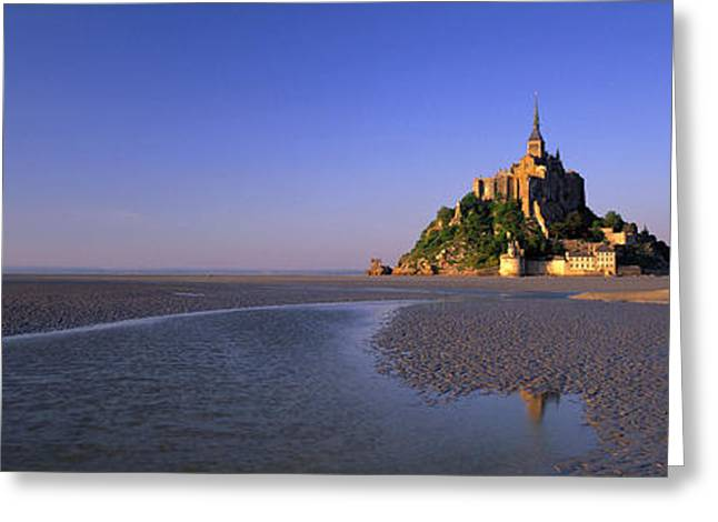 Floods Greeting Cards - Mont Saint Michel, Normandy, France Greeting Card by Panoramic Images