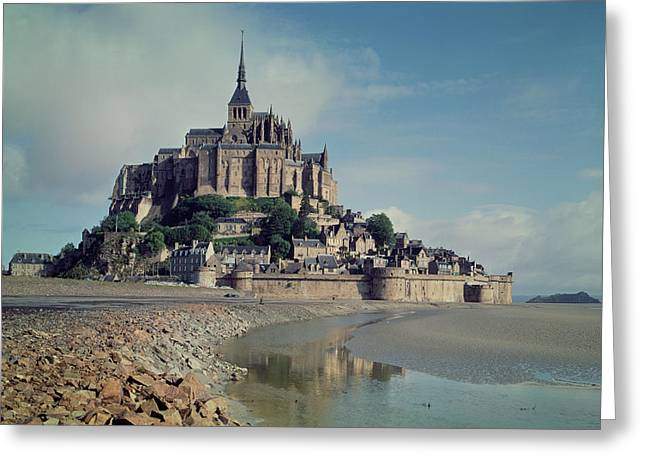 Romanesque Greeting Cards - Mont Saint-michel Photo Greeting Card by French School