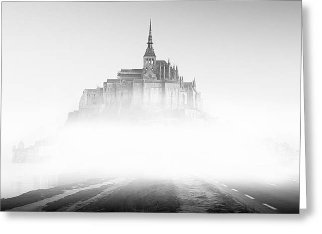 Monastery Greeting Cards - Mont Saint-Michel Greeting Card by Sebastian Musial