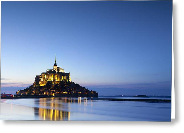 Illuminate Greeting Cards - Mont St Michel Normandy France Greeting Card by Colin and Linda McKie