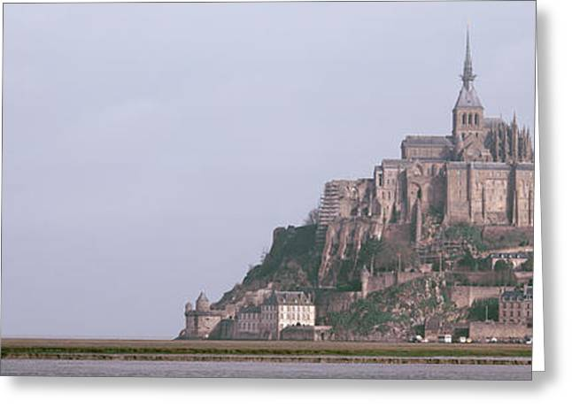 Grey Clouds Greeting Cards - Mont St Michel Normandy France Greeting Card by Panoramic Images