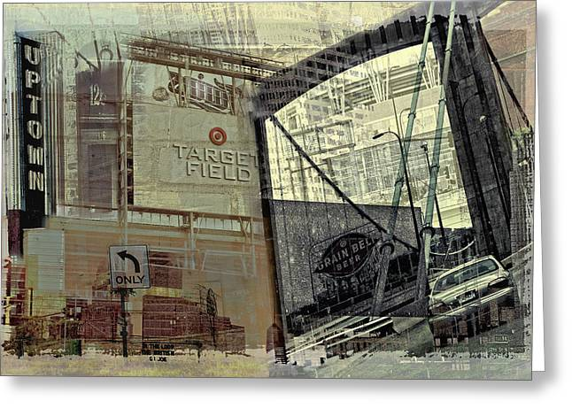 Photo-montage Greeting Cards - Montage of Minneapolis Greeting Card by Susan Stone