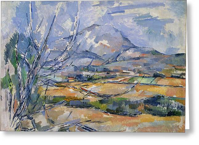 Midi Greeting Cards - Montagne Sainte-victoire, 1890-95 Oil On Canvas Greeting Card by Paul Cezanne