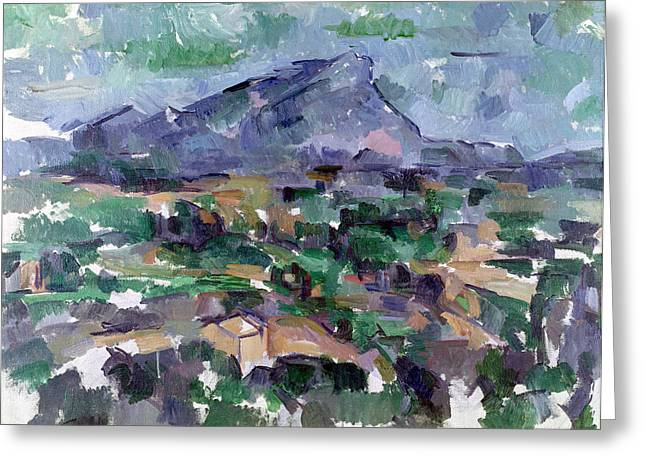 Midi Greeting Cards - Montagne Sainte-victoire, 1904-06 Oil On Canvas Greeting Card by Paul Cezanne