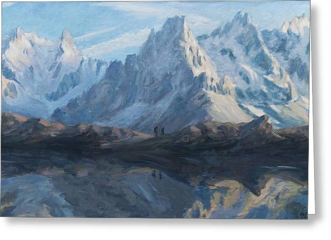 Montain Mirror Greeting Card by Marco Busoni