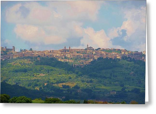 Tuscan Hills Photographs Greeting Cards - Montalcino Greeting Card by Marilyn Dunlap