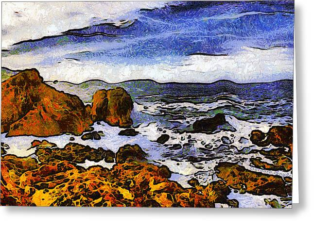 Ocean Scenes Greeting Cards - Montana Da Oro San Luis Obispo State Park Greeting Card by Barbara Snyder