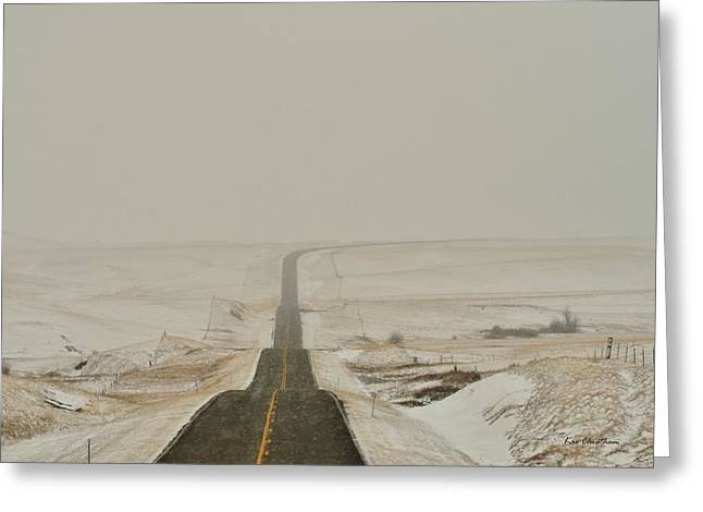 Roadway Greeting Cards - Montana Highway 3 Greeting Card by Kae Cheatham