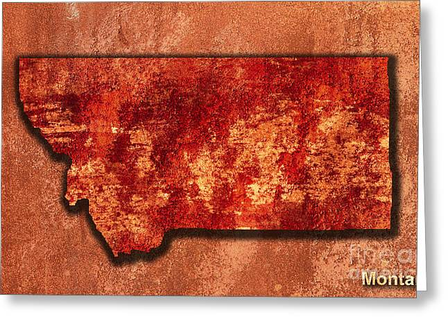 State Of Montana Mixed Media Greeting Cards - Montana Original Art Greeting Card by Marvin Blaine