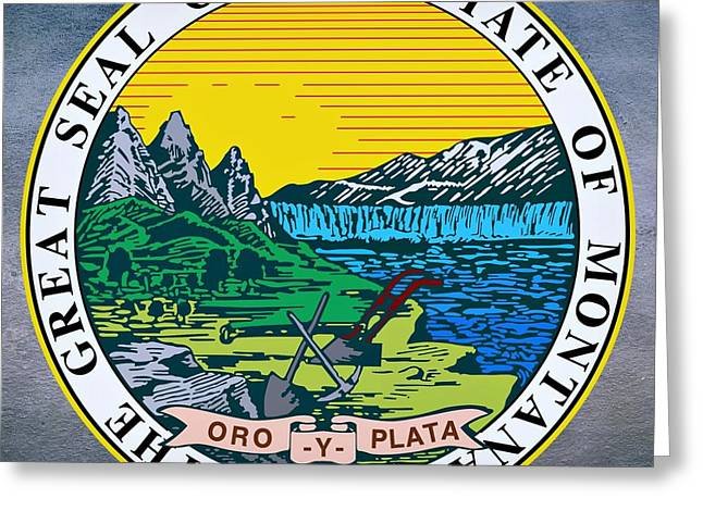 Montana Digital Art Greeting Cards - Montana State Seal Greeting Card by Movie Poster Prints