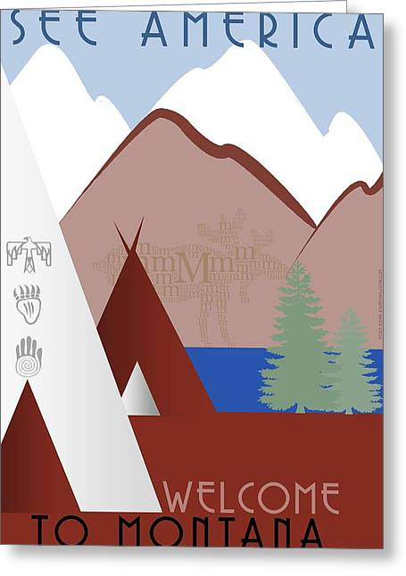 Montana Digital Art Greeting Cards - Montana Greeting Card by Steven Boland