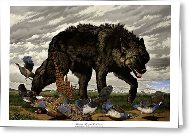 Philip Slagter Paintings Greeting Cards - Montana Top of the Food Chain Greeting Card by Philip Slagter