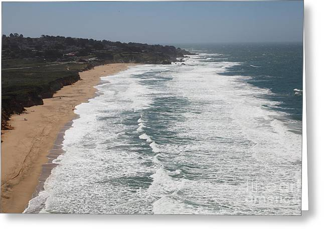 Montara State Beach Pacific Coast Highway California 5D22622 Greeting Card by Wingsdomain Art and Photography