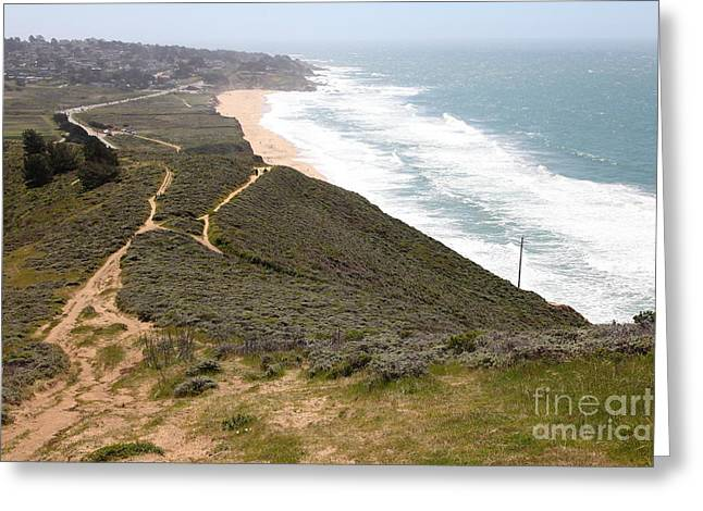 Then Greeting Cards - Montara State Beach Pacific Coast Highway California 5D22632 Greeting Card by Wingsdomain Art and Photography