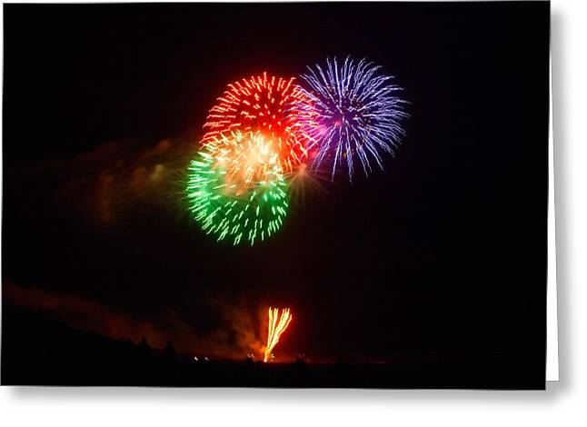 Pyrotechnics Greeting Cards - Montauk 4th Greeting Card by Art Block Collections