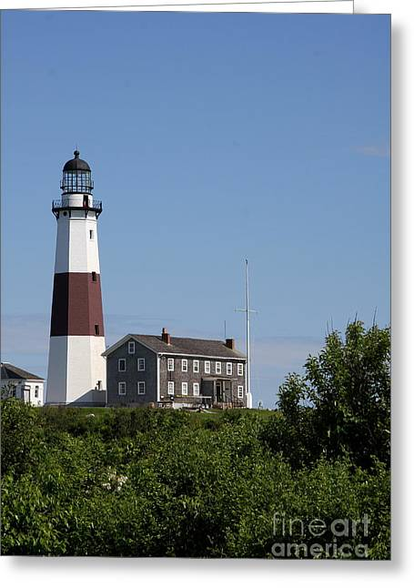 Christiane Schulze Greeting Cards - Montauk Point Lighthouse I Greeting Card by Christiane Schulze Art And Photography