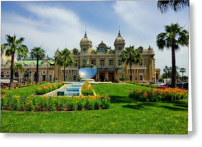High Stakes Greeting Cards - Monte Carlo Casino Greeting Card by Mountain Dreams
