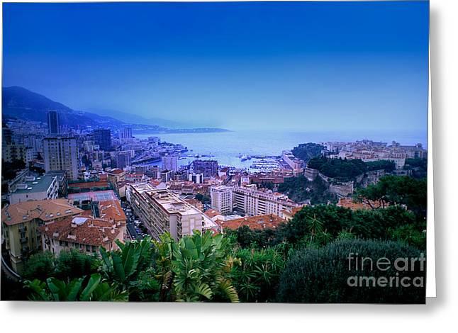 Ocean Landscape Greeting Cards - Monte Carlo, Monaco Greeting Card by Bill Bachmann