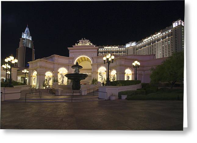 Monte Carlo Resort - Las Vegas Greeting Card by Brendan Reals