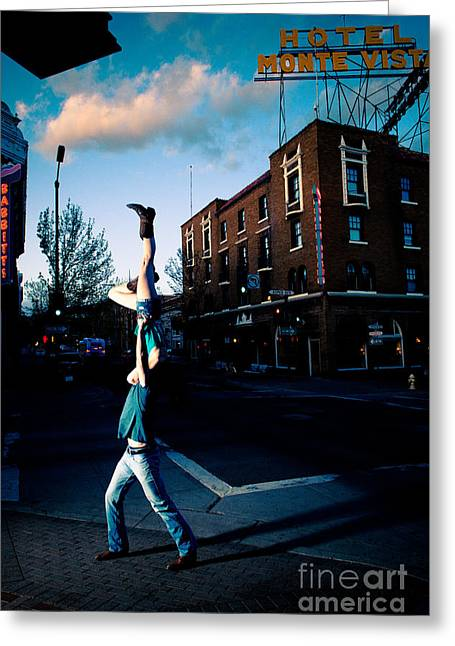 Monte Vista Greeting Cards - Monte V Candle Stick Greeting Card by Scott Sawyer