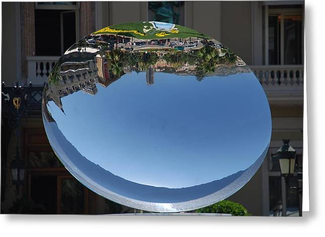 Spheres Pyrography Greeting Cards - Montecarlo Greeting Card by Eduardo Varela