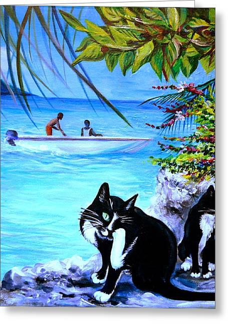 Anna Duyunova Art Greeting Cards - Montego Bay. Part One Greeting Card by Anna  Duyunova