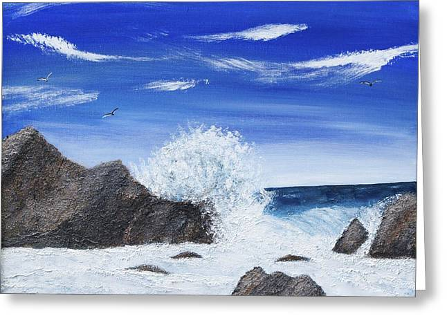 Cliffs Over Ocean Greeting Cards - Monterey Bay Greeting Card by Marianne Eichenbaum