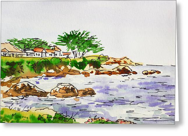 Monterey- California Sketchbook Project Greeting Card by Irina Sztukowski