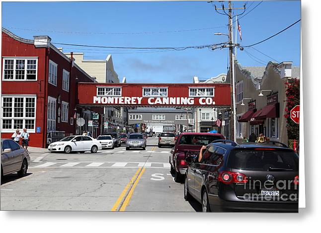 Monterey Canning Company Greeting Cards - Monterey Cannery Row California 5D25027 Greeting Card by Wingsdomain Art and Photography