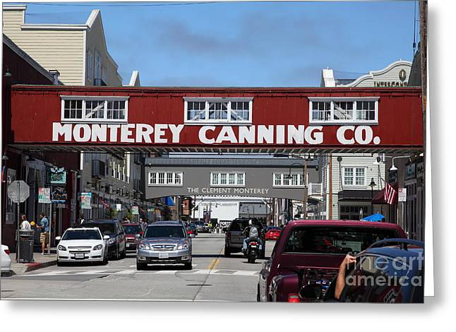 Monterey Canning Company Greeting Cards - Monterey Cannery Row California 5D25029 Greeting Card by Wingsdomain Art and Photography