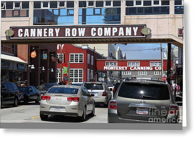 Monterey Canning Company Greeting Cards - Monterey Cannery Row California 5D25030 Greeting Card by Wingsdomain Art and Photography
