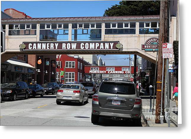 Monterey Canning Company Greeting Cards - Monterey Cannery Row California 5D25031 Greeting Card by Wingsdomain Art and Photography